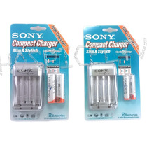 Pilas Recargables Sony Cycle Energy Aa Aaa 4600mah Cargador