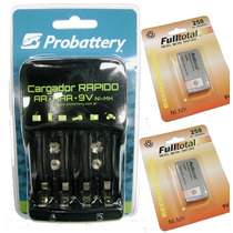 Promo Cargador Probattery Fr27 + 2 9v 250mah Fulltotal