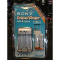Cargador Pilas Aa Y Aaa Sony + 2 Pilas Aa