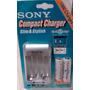 Cargador Pilas Aa Y Aaa Sony + 2 Pilas Aa - Envío Gratis!!!