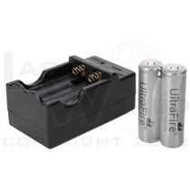 Combo 2 Pilas 18650 4.2v 800mah Ultrafire + Cargador Doble