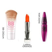 Kit Maybelline Make-up Express (bb Light+mascara+labial)