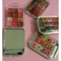 Set/kit Maquillaje Espejo Sombra Y Labial Super Practico
