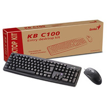 Kit Teclado Y Mouse Optico Genius Ps/2 Kb-c100