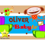 Kit De Oliver De Baby Tv Diseñá Tarjetas Cajas Cumple 2x1