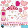 Kit Imprimible Baby Shower Nena 2 Imagenes Clipart