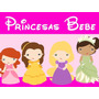 Kit Imprimible Princesas Baby Candy Bar Tarjetas Y Mas 1