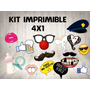 Kit Imprimible Photo Booth Props 4x1-baby Shower-casamiento