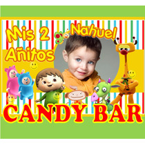 Kit Imprimible Baby Tv Candy Bar Tarjetas Con Foto Y Mucho +