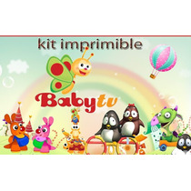 Kit Imprimible Baby Tv Candy Bar Cotillon Tarjetas Cumple