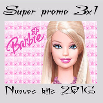 Kit Imprimible Barbie Cumple+candy+imagenes+ Fondos Y Mas