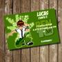 Kit Imprimible Tarjeta De Invitación Cumpleaños Ben 10