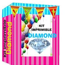 Kit Imprimible Empresarial Diamond Candy Bar + Mega 70gb !