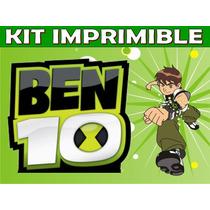 Kit Imprimible Ben 10 Cumpleaños Tarjetas Invitaciones