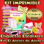 Kit Imprimible Etiquetas Escolares Para Los Utiles