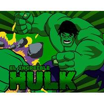 Kit Imprimible El Increible Hulk Diseñá Tarjetas, Cumples