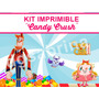 Kit Imprimible Candy Crush, Golosinas Stickers, Candybar