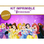 Kit Imprimible Editable Princesas Disney, Candy Bar,golosina