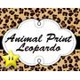 Kit Imprimible Animal Print Leopardo Diseñá Tarjetas, Cumple
