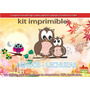 Kit Imprimible Candy Bar Bhuos Lechuzas Tarjetas Cumple Y Ma