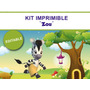 Kit Imprimible Editable Zou Cebra, Candy Bar, Golosina