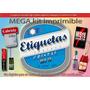 Megakit Imprimible De Etiquetas Para 15 Y 18 Modificables