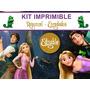 Kit Imprimible Editable Rapunzel Enredados Golosinas