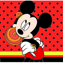 Kit Imprimible Candy Bar De Mickey Mouse - Rojo