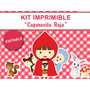 Kit Imprimible Editable Caperucita Roja, Candy Bar, Stickers