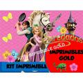 Kit Imprimible Enredados Rapunzel Invitaciones Cumples Y Más
