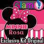 Kit Imprimible Minnie Rosa. Candy Bar, Cotillón. Super Glam!