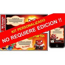 Kit Imprimible Intensamente Inside Out 100% Personalizado
