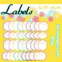 Kit Imprimible Pack Frames Etiquetas Label 61 Clipart