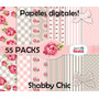 Kit Imprimible Papeles Digitales Shabby Chic (+600 Papeles)