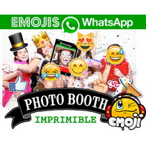 Kit Imprimible Photo Booth Emojis Emoticon