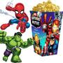 Kit Imprimible Escuadron De Super Heroes Candy Bar Cumple