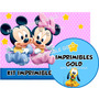 Kit Imprimible Candy Bar Minnie Y Mickey Bebe