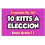Kit Imprimible Super Promo Por 10 Kits A Elecccion!!!!!