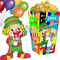 Kit Imprimible Payasitos Circo Candy Bar Cumple Golosina 2x1