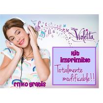 Kit Imprimible Violetta - Personaliza Cumpleaños Y Festejos