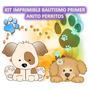 Kit Imprimible Bautismo Primer Anito Perritos