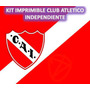 Kit Imprimible Club Atletico Independiente