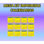 Mega Kit Imprimible Calendarios 2014- 2015