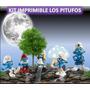 Kit Imprimible Los Pitufos