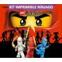 Kit Imprimible Ninjago