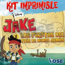 Kit Imprimible Jake Y Los Piratas Cumpleaños Candy Bar Nuevo
