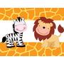 Kit Imprimible Animalitos Selva Invitaciones Candy Cotillon