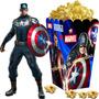 Kit Imprimible Capitan America Candy Bar Golosinas Tarjetas