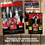 Kit Imprimible Tarjeta De Invitacion Ac Dc Rock