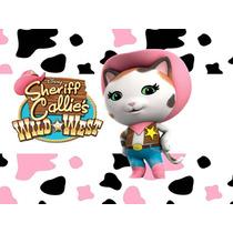 Kit Imprimible Sheriff Callie Cotillón Candy Invitaciones